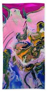 Pink Parrot Beach Towel