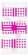 Pink Patterns Beach Towel