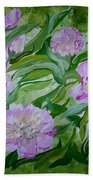 Pink Peonies Beach Towel