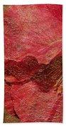 Pink Poppy Gold Leaf Beach Towel