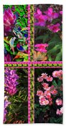 Pink Purple Flowers Captured At The Riverside Ridge At Oakville Ontario Canada Collage Beautiful     Beach Towel