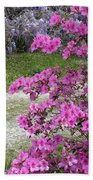 Pink Purple Mississippi Blooms Beach Towel