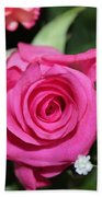 Pink Rose Adds Colour Beach Towel