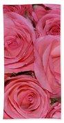 Pink Rose Closeup Beach Towel