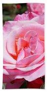Pink Rose Flower Floral Art Prints Roses Beach Towel