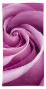Pink Rose Folded To Perfection Beach Towel