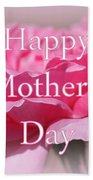 Pink Rose Mother's Day Card Beach Towel