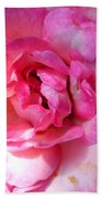 Rose With Touch Of Pink Beach Towel