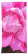 Pink Rose Painting  Beach Towel