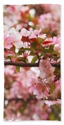 Pink Spring Apple Blossoms Beach Towel