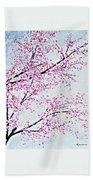 Pink Spring Beach Sheet
