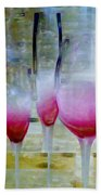 Pink Summer Beach Towel by Ben and Raisa Gertsberg