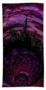 Pink Sunset Illusion 2 Beach Towel