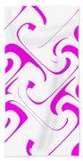 Pink Swirls Beach Towel