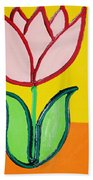 Pink Tulip Beach Towel