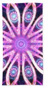 Pink Webs Beach Towel
