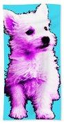 Pink Westie - West Highland Terrier Art By Sharon Cummings Beach Towel