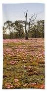 Pink Wildflowers Beach Towel
