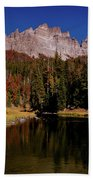 Pinnacle Buttes On Brooks Lake Creek Rocky Mountains Beach Towel