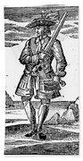 Pirate John Rackam, 1725 Beach Towel