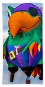 Pirate Parrot Pegleg Pete Beach Towel