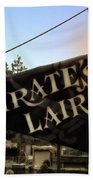 Pirates Lair Signage Frontierland Disneyland Beach Towel