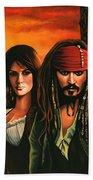 Pirates Of The Caribbean  Beach Towel