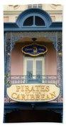 Pirates Signage New Orleans Disneyland Beach Towel