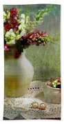 Pitcher Of Snapdragons Beach Towel by Diana Angstadt