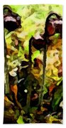 Pitcher Plant Abstraction Beach Towel