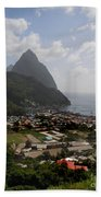Pitons St. Lucia Beach Towel