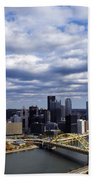 Pittsburgh After The Storm Beach Towel
