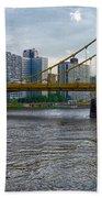 Pittsburgh Clemente Bridge Beach Towel