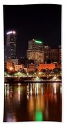 Pittsburgh Panorama Beach Towel by Frozen in Time Fine Art Photography