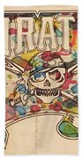 Pittsburgh Pirates Poster Art Beach Towel