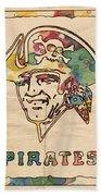 Pittsburgh Pirates Vintage Art Beach Towel
