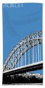 Pittsburgh Skyline 16th St. Bridge - Slate Beach Towel