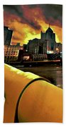 Pittsburgh Skyline Beach Towel