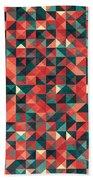 Pixel Art Poster Beach Towel