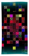Pixel Quilt Beach Towel