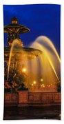 Place De La Concorde Beach Towel by Midori Chan