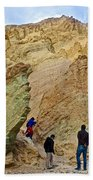 Places To Climb In Golden Canyon In Death Valley National Park-california Beach Towel