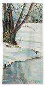 Placid Winter Morning Beach Towel