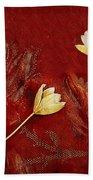 Plain Flowers Pop Art Beach Towel