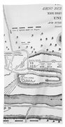 Plan Of The Battle Of Saratoga October 1777 Beach Towel
