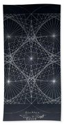 Plancks Blackhole Beach Towel by Jason Padgett