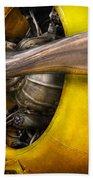 Plane - Pilot - Prop - Twin Wasp Beach Sheet