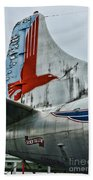 Plane Tail Wing Eastern Air Lines Beach Towel