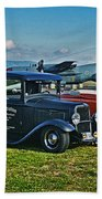 Planes And Cars Beach Towel