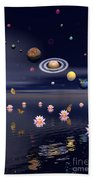 Planets Of The Solar System Surrounded Beach Sheet